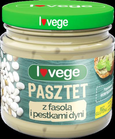 Lovege овощной  паштет с фасолью и тыквенными семечками 180 г