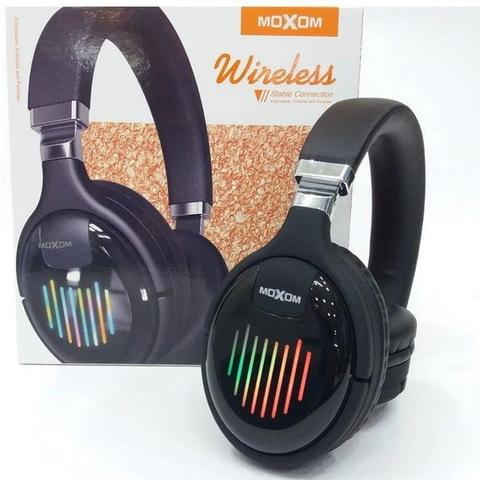 Наушники Bluetooth Moxom MX-WL14, BT 5.0, microSD, 5H, LED подсветка 7 режимов, black