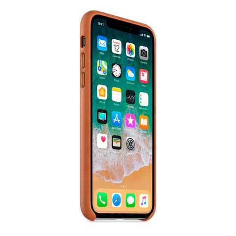 iPhone X Leather Case Saddle Brown