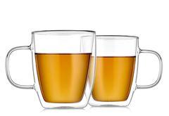 Кружки с двойными стенками ROXY Glaffe 350 мл стеклянные для кофе и чая, набор из 2 штук