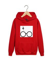 Толстовка красная с капюшоном (худи, кенгуру) и принтом Гарри Поттер (Harry Potter) 001