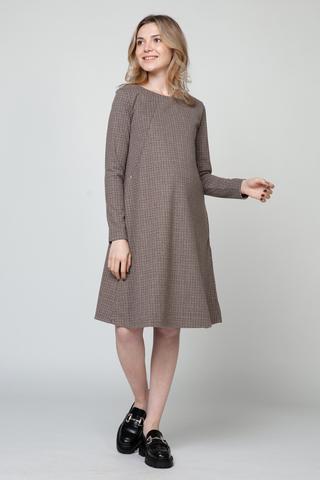 Платье для беременных и кормящих 13049 коричневый