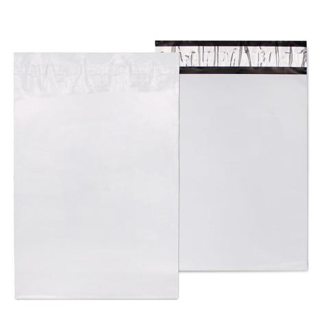 Курьерский пакет 340*460+40 мм, белый, без логотипа, без кармана