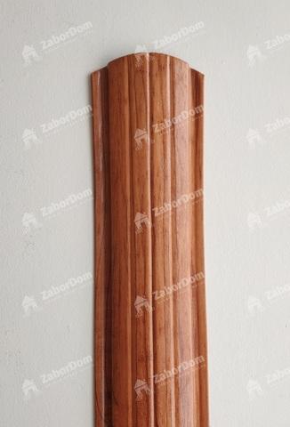 Евроштакетник металлический 110 мм Золотое дерево полукруглый 0.5 мм