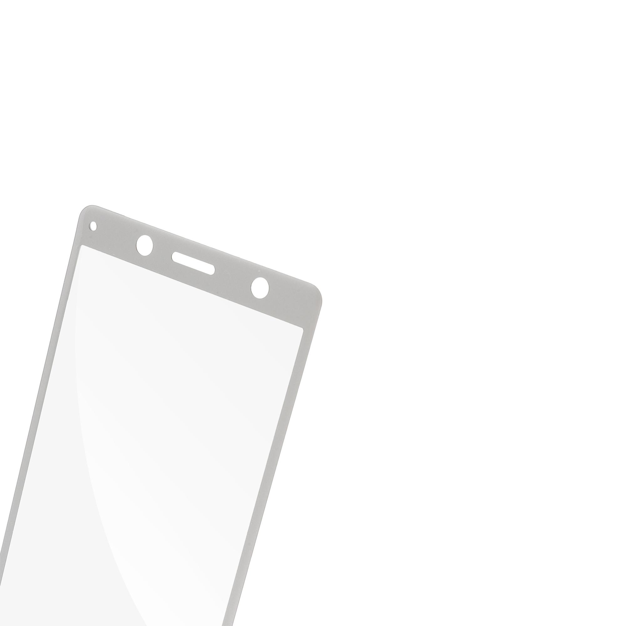 Защитное стекло Brosco серебристого цвета для Xperia XZ2 Compact