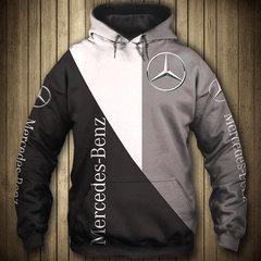 Толстовка утепленная 3D принт, Mercedes-Benz (3Д Теплые Худи Мерседес-Бенц) 02