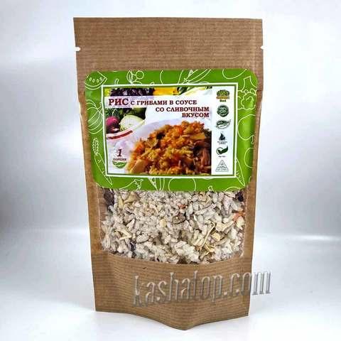 Рис с грибами в соусе со сливочным вкусом НТВ 'Organic food' 70г
