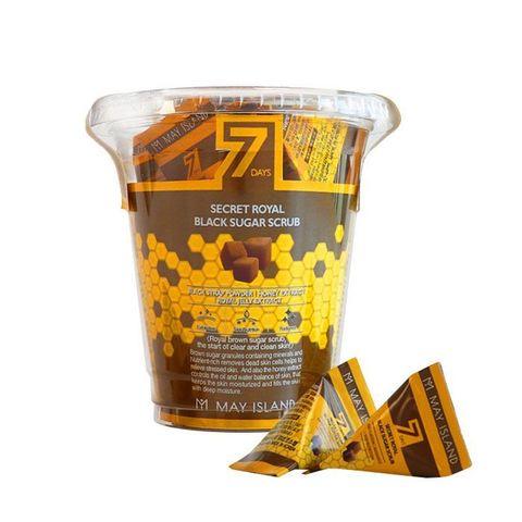 Сахарный скраб для глубокого очищения кожи MAY ISLAND 7 Days Secret Royal Black Sugar Scrub 1 пакети