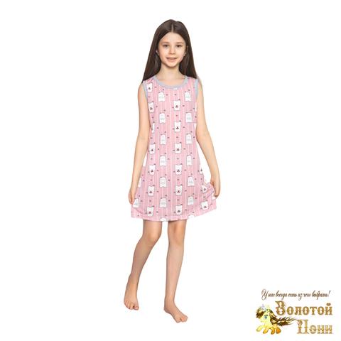 Сорочка хлопок девочке (6-14) 210318-М1140.2