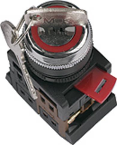 Переключатель АKS-22 черный с ключом на 2 фиксир.положения I-O 1з+1р TDM