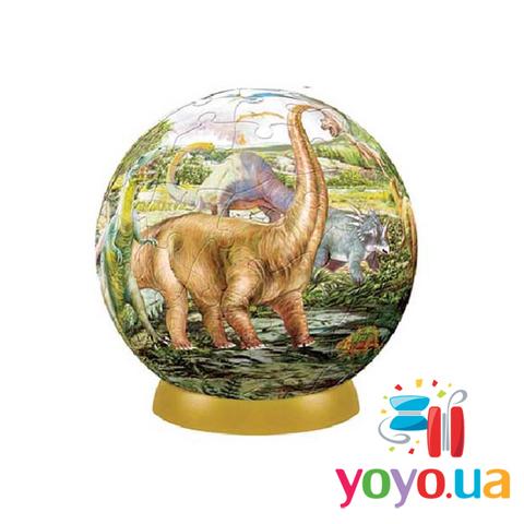 Шаровый 3D Пазл Pintoo - Динозавры 240 деталей 15 см