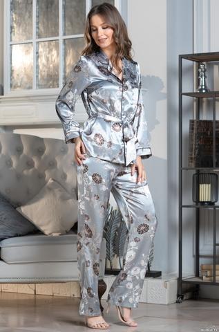 Комплект брючный 3 предмета Mia-Amore PARIS PIONS ПАРИЖ ПИОН 8996 серый