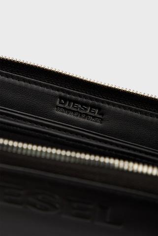 Мужской черный кошелек  24 ZIP Diesel