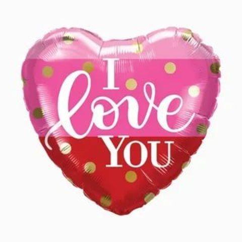 Сердце I love you полоска