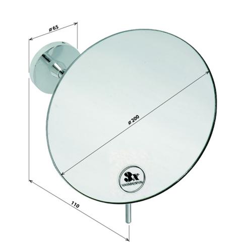 Косметическое зеркало настенное Bemeta D20см. без подсветки