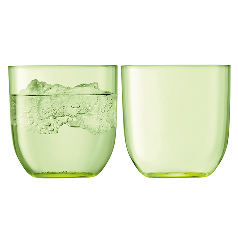 Набор из 2 стаканов для воды и виски «Hint»,  400 мл зелёный