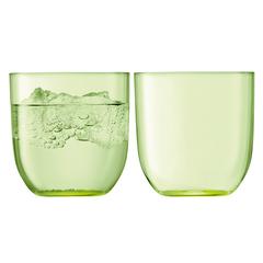 Набор из 2 стаканов для воды и виски «Hint»,  400 мл зелёный, фото 1