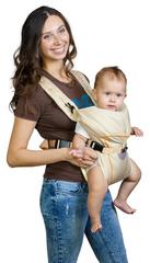 Чудо-Чадо. Рюкзак-кенгуру BabyActive Simple, бежевый вид 1