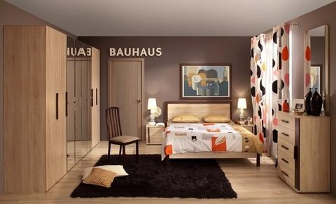 Зеркало навесное Bauhaus 11 Глазов Мебель лдсп стекло дуб сонома
