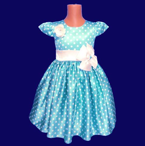 Платье для малышек в голубое с крылышками