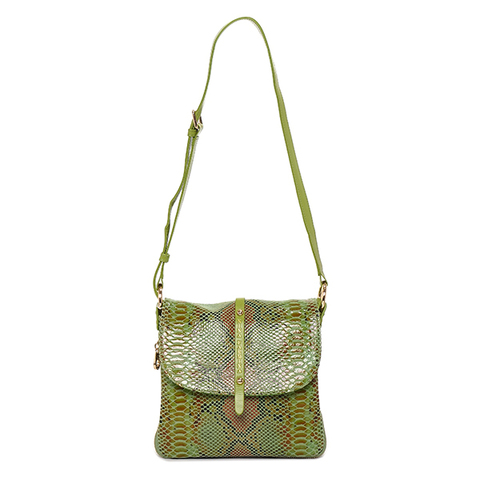 Женская зеленая сумка из кожи Nina Farmina