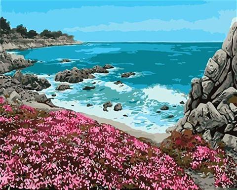 Картина раскраска по номерам 40x50 Вид на полуострове