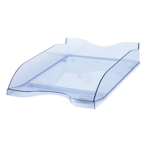 Лоток для бумаг горизонтальный Стамм тонированный голубой (2 штуки в упаковке)