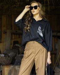 Блуза с принтом