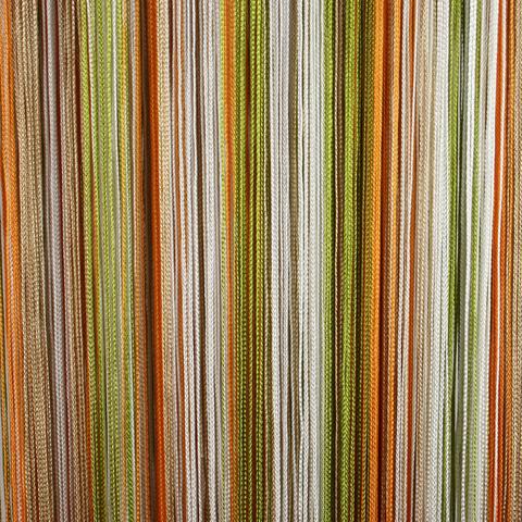 Кисея радуга Белая, оливковая, бежевая оранжевая. Ш-300см., В-280см. Арт.106