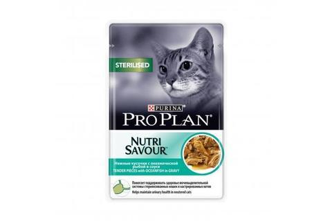Консервы Purina Pro Plan для стерилизованных кошек и кастрированных котов, океаническая рыба в соусе,  85 г