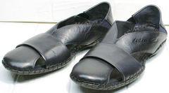 Модные мужские сандалии закрытые Luciano Bellini 76389 Blue.