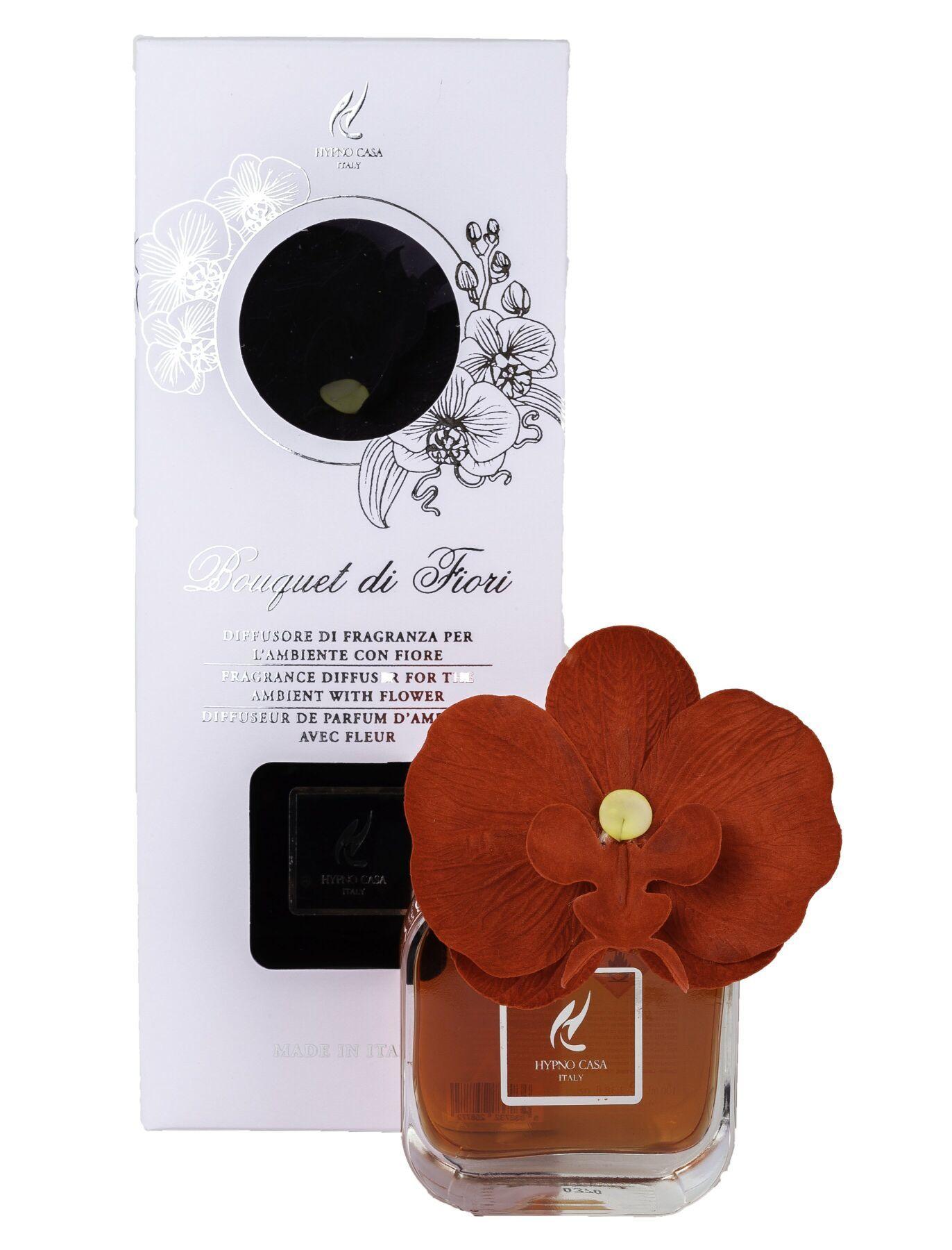 Диффузор Hypno Casa с цветком орхидеи 100ml Rosso Divino