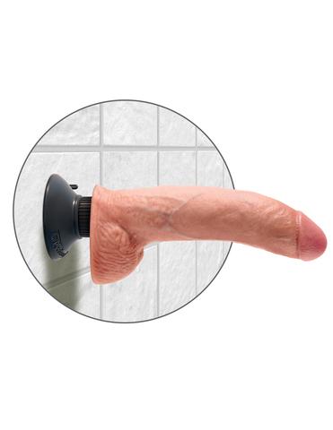 Вибромассажер 3в1 на съемной присоске 9 Vibrating Cock with Balls