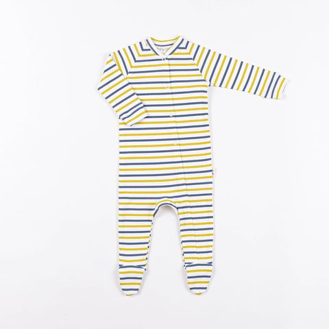 Sleepsuit with snap buttons 0+, Striped