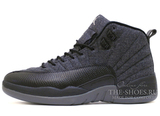 Кроссовки Мужские Air Jordan 12 Retro Jumpmen Black Wolf