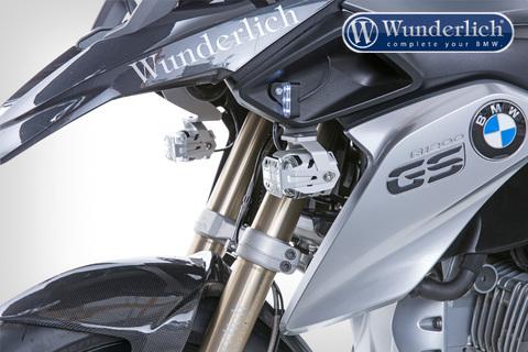 Защита доп.света Microflooter (решетка) BMW серебро
