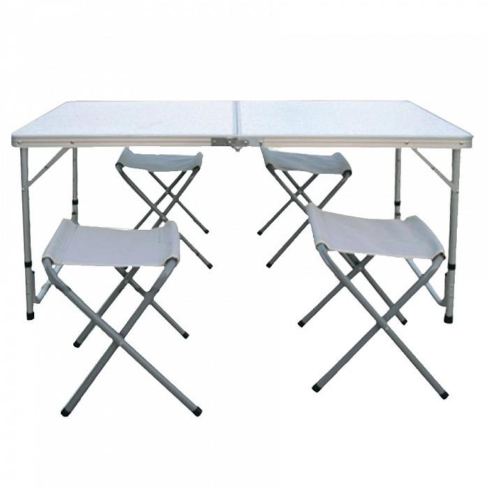 Набор: стол складной с 4-мя складными стульями НТО9-0055/5
