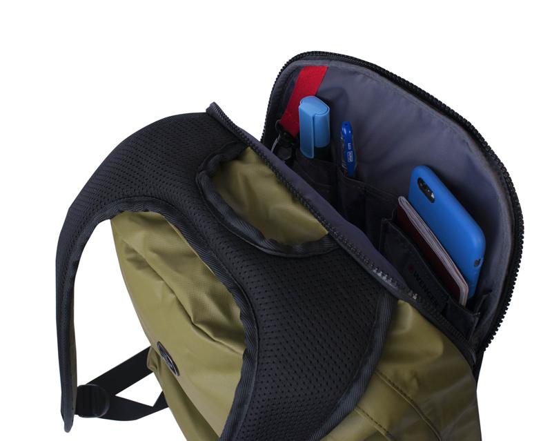 Рюкзак WENGER Photon с водоотталкивающим покрытием, цвет оливковый, отделение для ноутбука 14