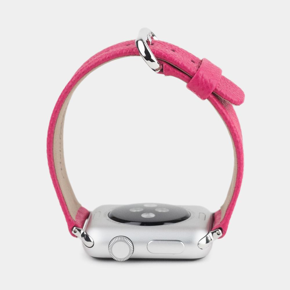Ремешок для Apple Watch 42/44мм XS Classic из натуральной кожи теленка, темно-розового цвета