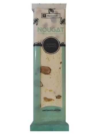 Батончик из нуги с медом миндалем и арахисом 65 гр