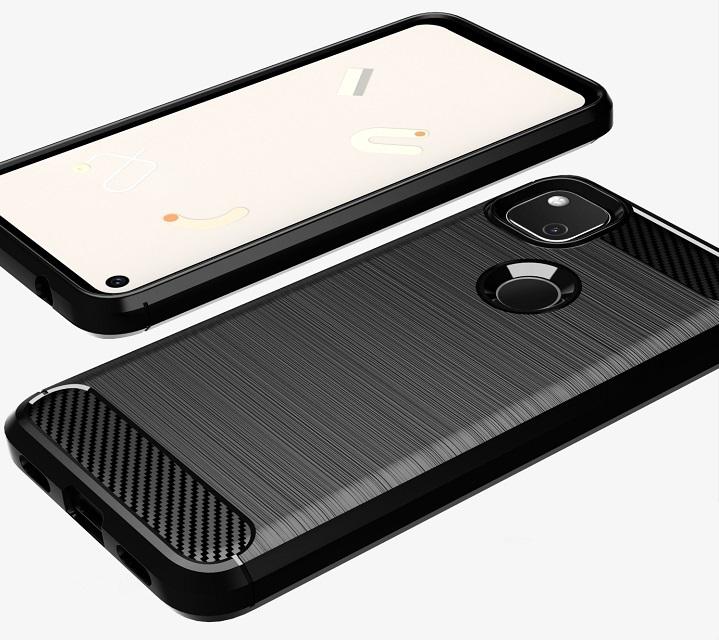 Чехол защитный черный для Google Pixel 4A, серия Carbon от Caseport