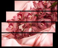 """Модульная картина """"Орхидея на шелке"""""""