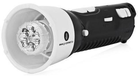 JJ-Connect Megaphone F-100. Портативный мегафон со светодиодным фонарём, сиреной и FM-приёмником.