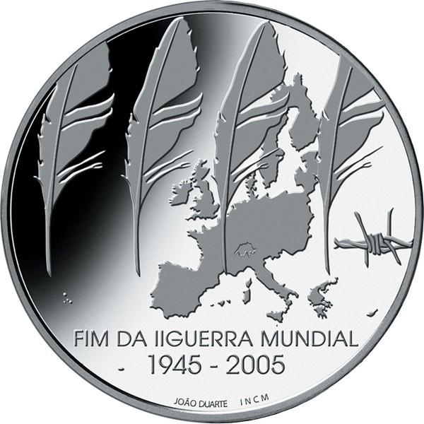 8 евро. 60 лет окончания 2-ой мировой войны. Португалия. Серебро. 2005 год. В оригинальной квадрокапсуле. PROOF