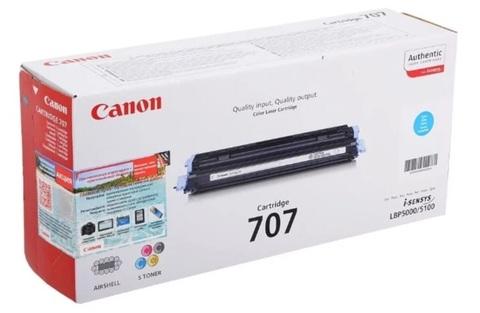 Оригинальный картридж Canon 707C 9423A004 голубой