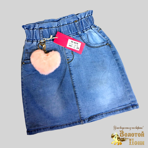 Юбка джинсовая девочке (6-11) 210312-DS-831B