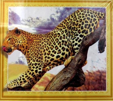 Алмазная Мозаика 5D 40x50 Леопард на ветке (арт.LT0071)