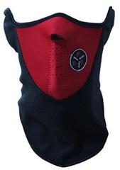Балаклава, маска на пол-лица (модель №1) красная