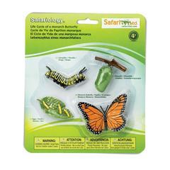 Набор фигурок Жизненный цикл бабочки Монарх, Safari Ltd.