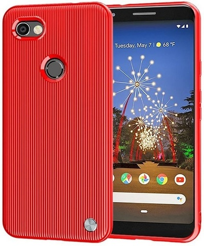 Чехол Google Pixel3a XL цвет Red (красный), серия Bevel, Caseport